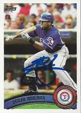 Julio Borbon Texas Rangers 2011 Topps Signed Card