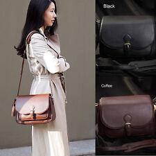 Women DSLR SLR Camera Lens Padded Bag Leather Travel Shoulder Messenger Bag New