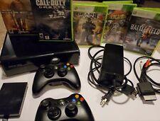 Xbox 360 Slim Console w/ 2 Controllers & 11 Games