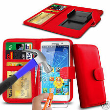 For THL 5000T - Glass & Clip On PU Leather Wallet Case Cover