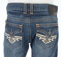 XTREME COUTURE by AFFLICTION Men Denim Jeans NEWPORT Medium Wash Embroidered $79