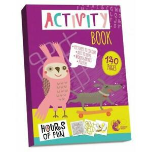140 Page Activity Book Kids Colouring Puzzles Children Learning