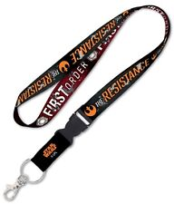 "Star Wars First Order The Resistance New Trilogy 1"" Lanyard w/ Detachable Buckle"