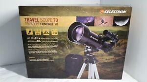 Celestron Travel Scope 70 5.71 Refractor Telescope Tripod Camping Moon 21035
