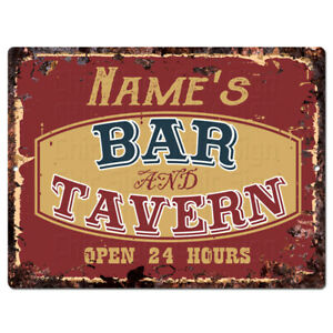 PP4230 BAR and TAVERN NAME'S Custom Personalized Chic Sign Decor Funny Gift