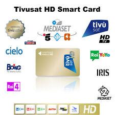 TIVUSAT HD pre-attivato SmartCcard -- guarda TV ITALIANA ormai!!!