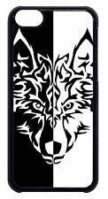Wolf Teen Art Black White Design Cute Back Case Cover For Apple iPod 4 5 6