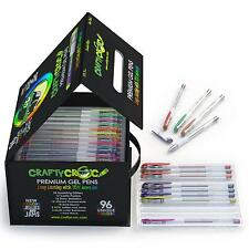 Crafty Croc Gel Pens Coloring Set Glitter, Neon, Metallic, White with No...