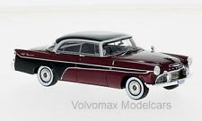 wonderful modelcar DESOTO FIREDOME 4-DOOR SEVILLE 1956 - darkred/black -  1/43