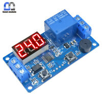 Display LED Timer Relay Programmable Module 12V Delay Switch Board Car Buzzer