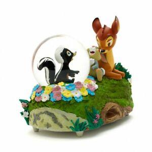 Disney Bambi Thumper and Flower Snow Globe, Disneyland Paris Original   N:2190