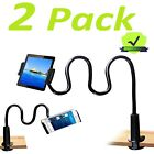 2X Gooseneck Tablet Holder Stand Flexible Arm Clip Mount for iPad Galaxy Tabs