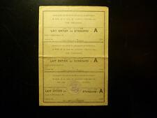 France- Lot ( Z18)-1  val. -  Doc de 1949 :  TICKET RATIONNEMENT (2 photos)
