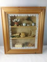 Vintage Rustic Flower Grain Seeds Kitchen Diorama 3D Shadow Box Frame Picture