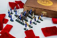 Tin Toy Soldiers Elite Painted Set 16 pcs - WW1 German Diorama Vintage Lead WWI