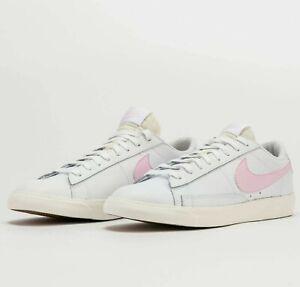 Nike Blazer Low Leather White Pink Foam CI6377-106 Unisex Shoes Sneakers