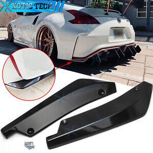 For Nissan 370Z Altima Rear Bumper Splitter Diffuser Canard Gloss Black Texture
