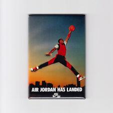 "MICHAEL JORDAN / ... HAS LANDED - 2""x3"" POSTER FRIDGE MAGNET (nike air costacos)"