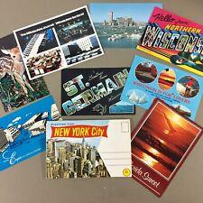 Lot of 8 vintage postcards WI FL & 1 vintage NY accordion postcard book