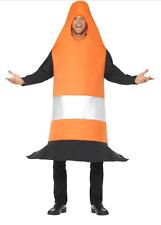 Fancy Dress Orange Traffic Cone Costume Student Freshers Novelty Fun (46701)