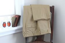 Bills Khakis Flat Front Casual Pants 40W 35L Classic Cotton USA Made Trousers