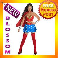 C606 Licensed Wonder Woman Corset Halloween Fancy Dress Adult Costume