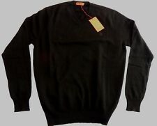 "PRINGLE V neck Pure Merino Lambswool sweater pullover jumper top XL 44"" Black"
