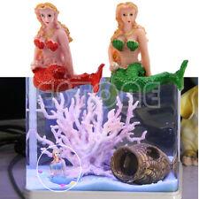 New Resin The Little Mermaid Aquarium Tank Fish Decorations Ornaments Home Decor