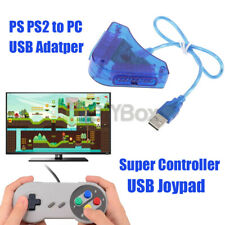Super Controller USB Joypad Game Dual PS PS2 To PC Controller Converter Adapter