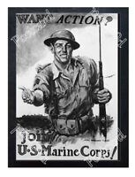 Historic U.S Marines Corps Recruits WWI Advertising Postcard