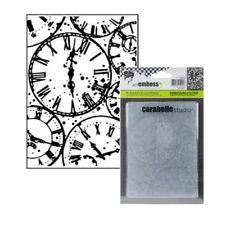 Clocks embossing folder Horloges Carabelle embossing folders time retirement