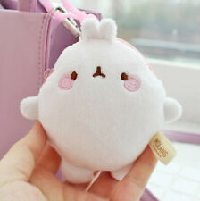 Molang Mini Soft Fabric Coin Wallet Cute Pouch Keyring for Bag