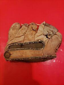 Boy's League Vintage Baseball Glove Mitt 1950's 1940's Kids McKinnon? WORN