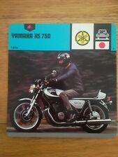 Fiche Moto Motorcycle Card 12 x 12,5 cm - Yamaha XS 750 - 1978