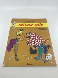 LUCKY LUKE #20 Turkish Comic Book 2010s RARE Morris RED KIT Western LARGE SIZE