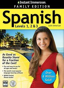 Instant Immersion Spanish Levels 1,2,3 (2014 Edition) - NEW™