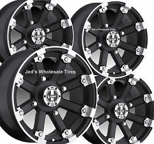 "4) 12"" Rims Wheels for 2008-2013 Kymco 375 MXU IE IRS Type 393 MBML Aluminum"