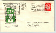Great Britain 1953 8d Bea Flight Cover / Fdc / to Manchester - Z13748