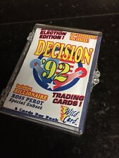 1992 Wild Card Decision 92 - Complete 100 Card Presidential Campaign Base Set