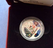 2014 Canada Fine Silver $20 Coin: Venetian Glass Holiday Snowman w/ COA