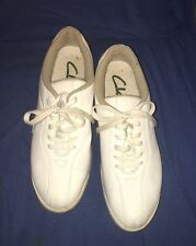 Clarks Leather Sneaker Women's 10M White Leather Lace Up Walking Comfort Shoe