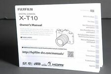 Fuji Fujifilm Genuine X-T10 Camera Instruction Book / Manual / User Guide