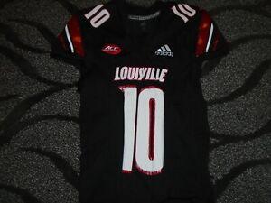 Louisville Cardinals Football Black Rodjay Burns Game used Away Jersey Choice