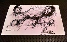 "Muhammad Ali vs Joe Frazier III  ""Thriller In Manila."" autograph signed postcard"
