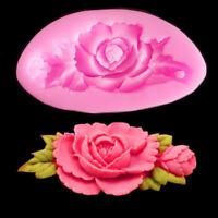 Silikon 3D Rose Fondant Kuchen Schokoladen Form Sugarprägeform Küche