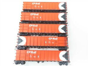LOT of 5 HO Scale Roundhouse CP Canadian Pacific Railway Gondolas Freight Cars