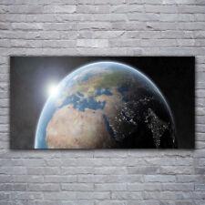 Glasbilder Wandbild Druck auf Glas 120x60 Erdball Weltall