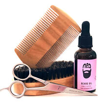 NED Lavender Beard Oil + Scissors + Military Brush = Great Father Day Present