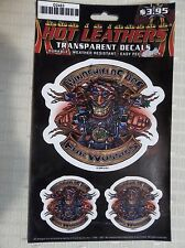 2 BIKER Transparent Decals by Hot Leathers WINDSHIELDS ARE FOR WUSSIES