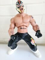 "JAKKS PACIFIC Rey Mysterio WWE WRESTLING FIGURE LARGE 14"" POSEABLE FIGURINE"